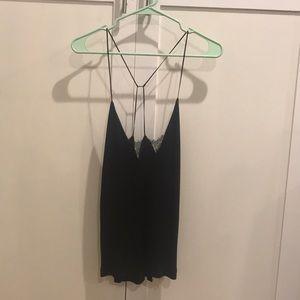 Strappy black lace Blouse